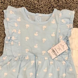 Carter's Matching Sets - Carter's blue and white summer outfit with swans